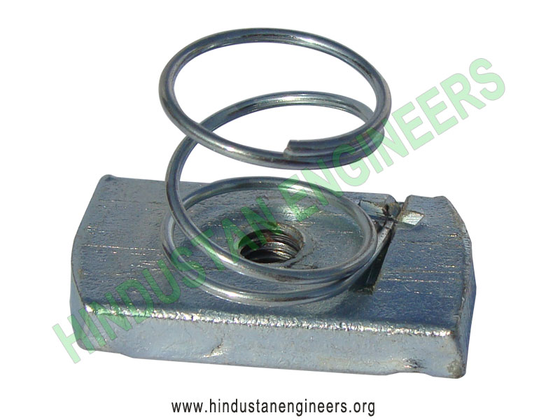 Channel Nut with Short Spring manufacturers exporters suppliers in India